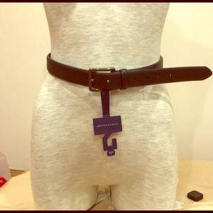 Tommy Hilfiger Navy Blue men's leather belt. NWT